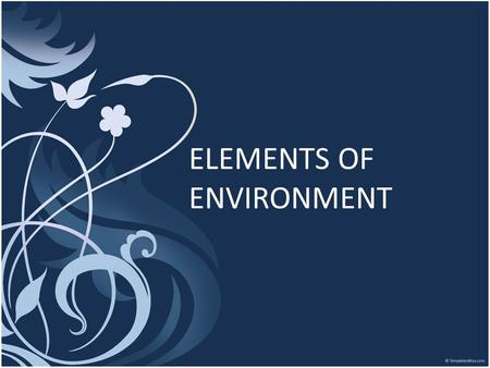 ELEMENTS OF ENVIRONMENT. INTERNAL ENVIRONMENT Value System Mission and objectives Management Structure and Nature Human Resources Company Image and brand.