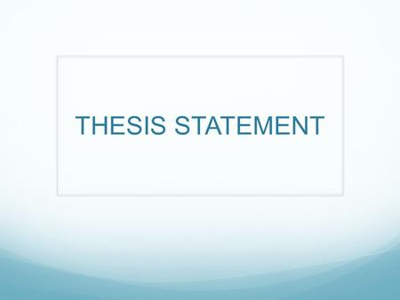 thesis statement for rules of the game Thesis statement about the hunger games thesis statements are necessary so that katniss everdeen displays many forms of rebellion against the rules of the.