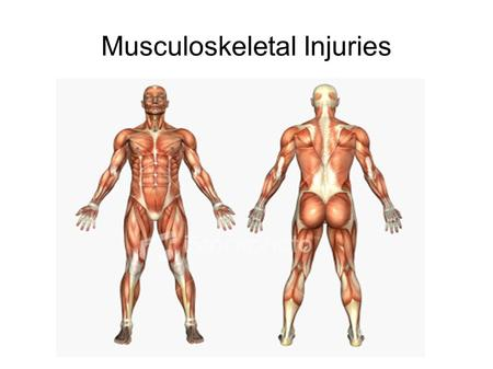 Musculoskeletal Injuries. Definition Any injury that occurs to a skeletal muscle, tendon, ligament, joint, or a blood vessel that services skeletal muscle.