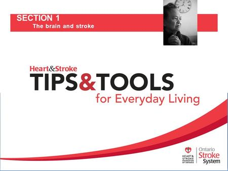 SECTION 1 The brain and stroke. How the brain works Understanding stroke Stroke risk factors Effects of stroke Stroke recovery 2.