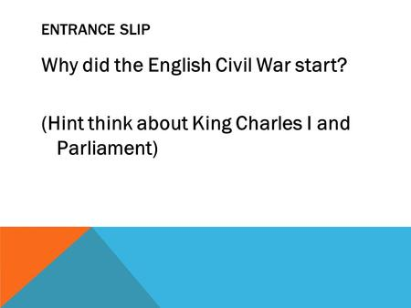 Why Did Charles I Lose the Civil War