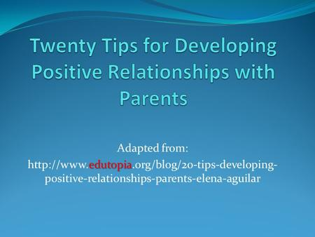 develop positive relationships essay