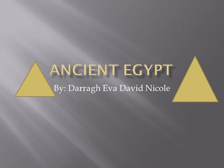 By: Darragh Eva David Nicole.  He became pharaoh when he was 8/9.  He died when he was 18/19.  His tomb was discovered by Howard Carter.  He got married.