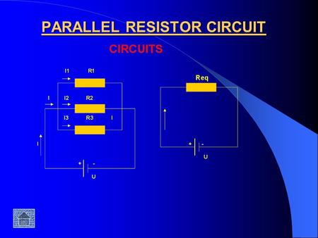 PARALLEL RESISTOR CIRCUIT. The equivalent parallel resistance is: The equivalent parallel resistance when I connect two resistors in a parallel circuit.