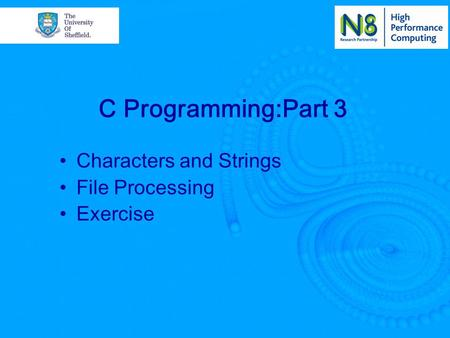 Characters and Strings File Processing Exercise C Programming:Part 3.
