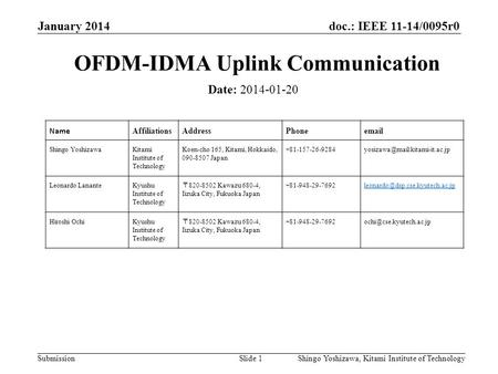 OFDM-IDMA Uplink Communication
