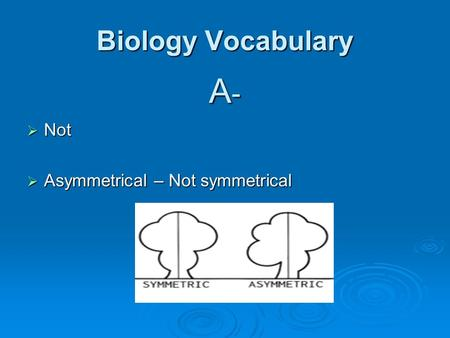 biology vocabulary Information and definitions of the terms been taken from various reliable government publications and we have done our best to verify their accuracy.