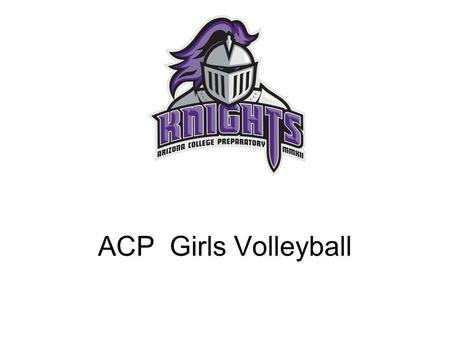 ACP Girls Volleyball. Coach Orr and Coach Michaelson.
