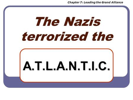 The Nazis terrorized the A.T.L.A.N.T.I.C. Chapter 7: Leading the Grand Alliance.