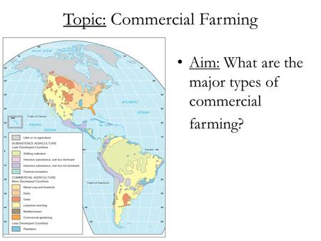 Topic: Commercial Farming