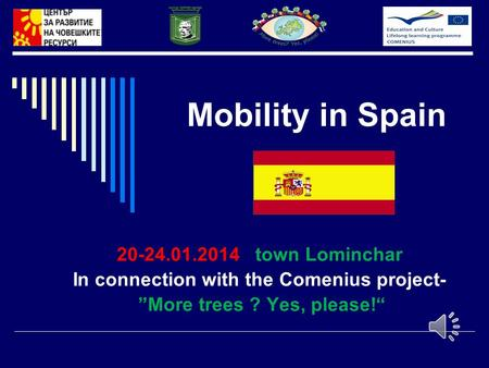 "Mobility in Spain 20-24.01.2014 town Lominchar In connection with the Comenius project- ""More trees ? Yes, please!"""
