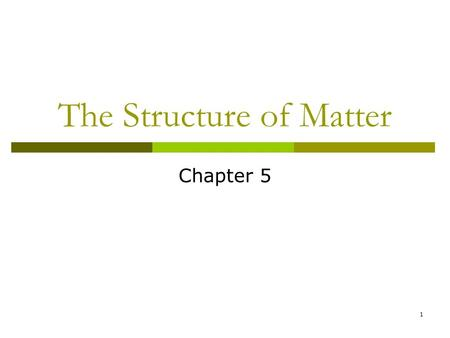 1 The Structure of Matter Chapter 5. 2 Compounds  Compounds are made from two or more elements.  The compound has properties that are different from.