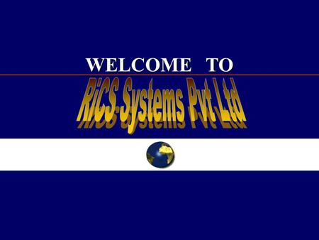 WELCOME TO. FOOD TRADING SYSTEM RICS INDIA RICS SYSTEMS INDIA PVT LTD.,