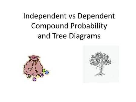 Independent vs Dependent Compound Probability and Tree Diagrams.