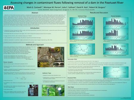 Assessing changes in contaminant fluxes following removal of a dam in the Pawtuxet River Results and Discussion Methods and Approach Passive samplers (polyethylene;