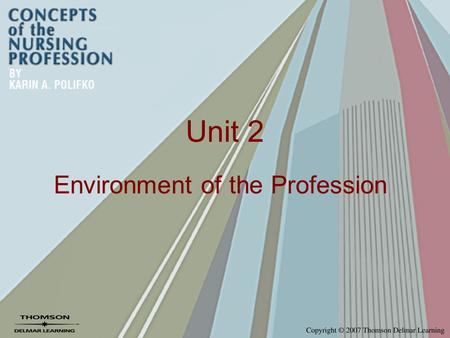 Unit 2 Environment of the Profession. Chapter 8 Health Services in the United States.