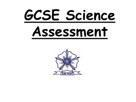 GCSE Science Assessment. WHAT IS THE SPEED OF SOUND? Learning Objectives To inform you which science GCSE's your child will undertake in years 10 & 11.