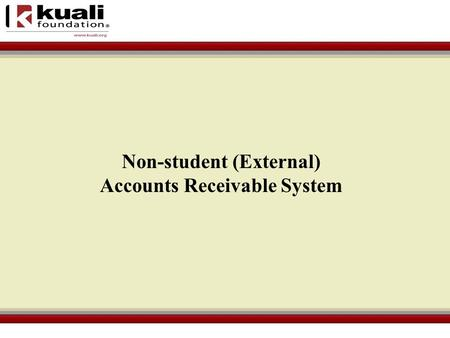 Non-student (External) Accounts Receivable System.