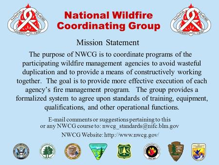 00-1-S230-EP National Wildfire Coordinating Group  comments or suggestions pertaining to this or any NWCG course to: