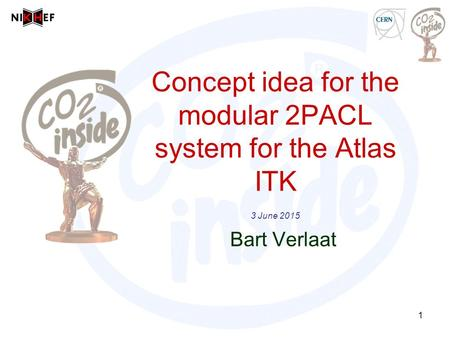 Concept idea for the modular 2PACL system for the Atlas ITK 3 June 2015 Bart Verlaat 1.