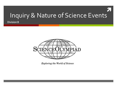  Inquiry & Nature of Science Events Division B. Awesome Aquifer  Resources  Groundwater Foundation  Virginia Groundwater  Event Format -  Station.