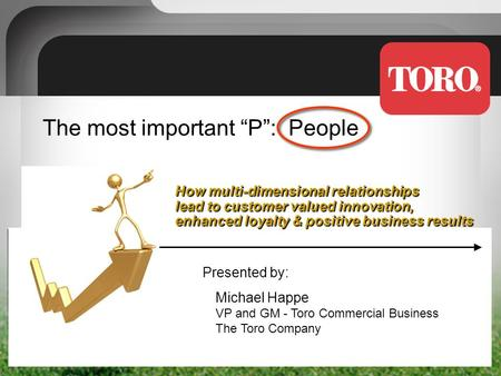 "The most important ""P"": People How multi-dimensional relationships lead to customer valued innovation, enhanced loyalty & positive business results Presented."
