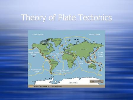 Theory of Plate Tectonics. Plates Meet at Boundaries Hot, mantle moves the plates. Tectonic Plates.