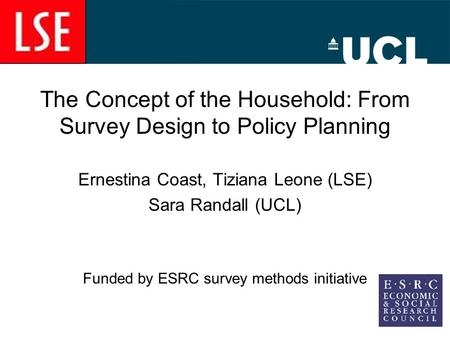 Did you sleep here last night the impact of the household for Design of household survey