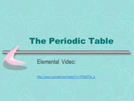 The Periodic Table Elemental Video: