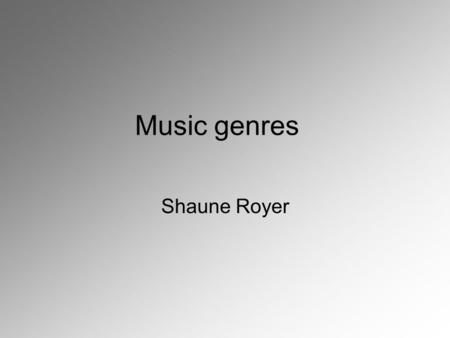 Music genres Shaune Royer. History of reggae The first Jamaican recording studio opened in 1951 & recorded a fusion of European and African folk dance.