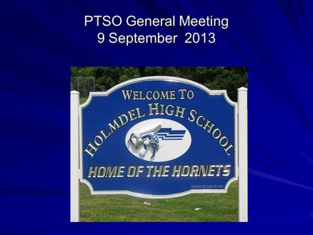 PTSO General Meeting 9 September 2013