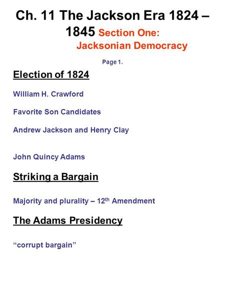 Jacksonian democracy essay