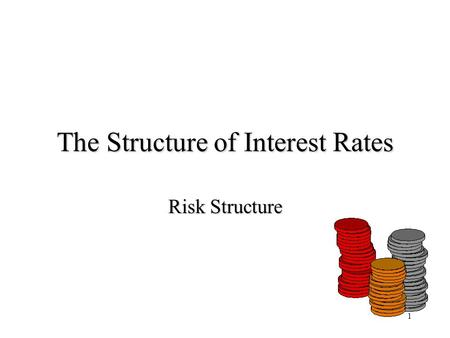 1 The Structure of Interest Rates Risk Structure.