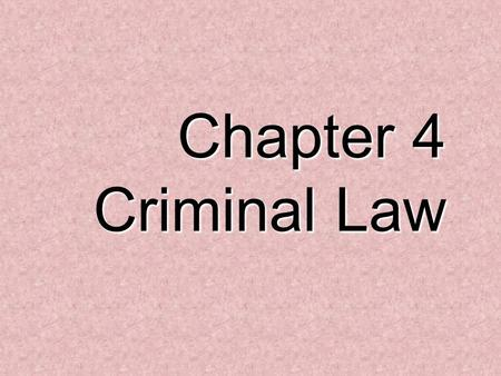 Chapter 4 Criminal Law. Categories 100 200 300 400 500 100 200 300 400 500 100 200 300 400 500 100 200 300 400 500 100 200 300 400 500 Business Related.