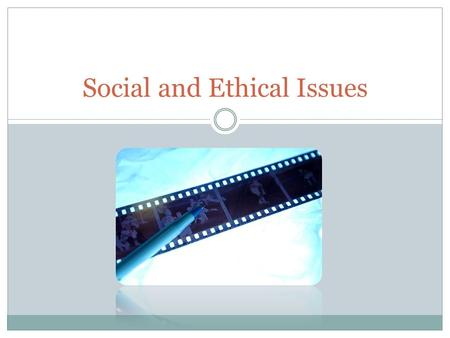 social and ethical issues in computing Professional, legal, ethical and social issues 1- overview the work presented  here aims to: • instil a professional attitude toward the application of computer.