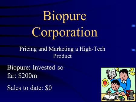 biopure case study Products of biopure hemopure case study harry zhao sam shen frena lai lucia lu linda yin addison hu found in 1984 a privately owned biopharmaceutical firm.