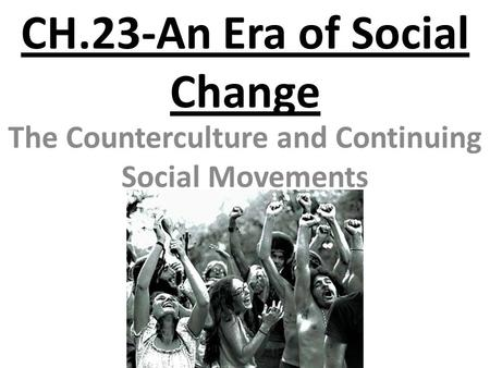social changes in america in the 1960s Historians tend to portray the 1950s as a decade of prosperity, conformity, and consensus, and the 1960s as a decade of turbulence, protest, and disillusionment these stereotypes are largely true, though, as with everything in life, there are exceptions to this perspective therefore, the.
