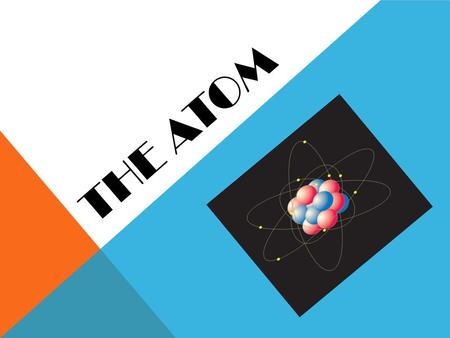 THE ATOM. HOW SMALL IS AN ATOM? Think of a penny… A penny contains about 2 x 10 22 atoms of copper and zinc Aluminum has average sized atoms  diameter.