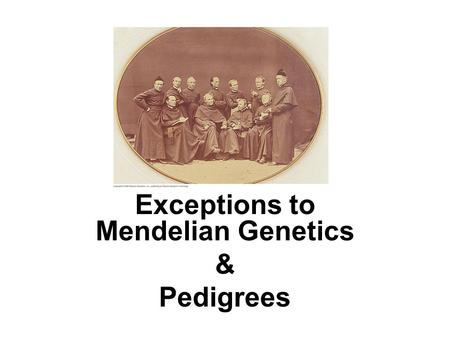 Exceptions to Mendelian Genetics & Pedigrees