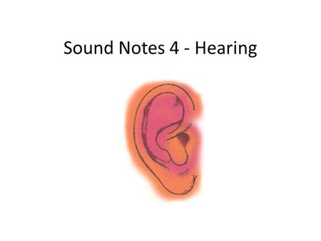 Sound Notes 4 - Hearing. Hearing To hear, you need 3 things: Source of Sound Medium to transmit sound Sense organ to detect the sound.