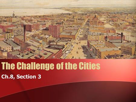 The Challenge of the Cities Ch.8, Section 3. WARM UP 11/1/10 Define the following; steerage quarantine subsidies.