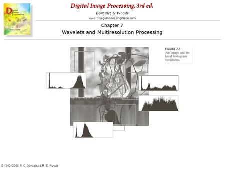 Digital Image Processing, 3rd ed. www.ImageProcessingPlace.com © 1992–2008 R. C. Gonzalez & R. E. Woods Gonzalez & Woods Chapter 7 Wavelets and Multiresolution.