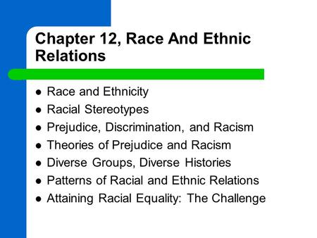 is prejudice and discrimination a myth We can't talk about race without also discussing racism, so today we are going to define and explain prejudice, stereotypes, and racism we'll look at five t.
