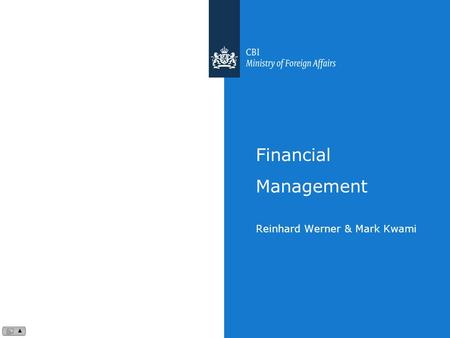 Financial Management Reinhard Werner & Mark Kwami.