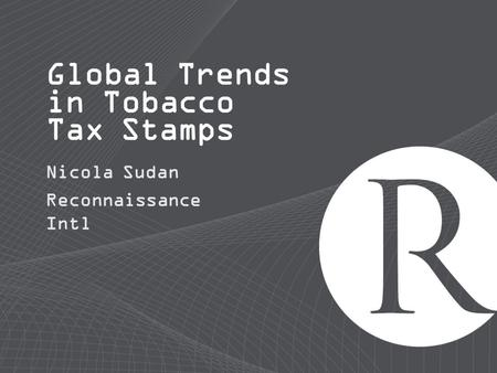 Global Trends in Tobacco Tax Stamps