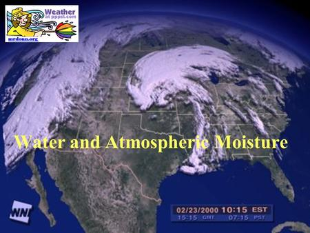Water and Atmospheric Moisture. Hydrologic Cycle.