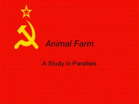 a comparison of the events in animal farm a novel by george orwell and the russian revolution of 191 Animal farm is a satire and prophecy of the russian revolution, which was  written by  the novel animal farm is george orwell's way of portraying his  ideas,  actual events that happened to a communist country, now known as  russia.