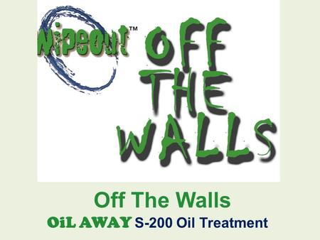 "Off The Walls OiL AWAY S-200 Oil Treatment. One Month Old Oil Spill On Concrete - Section 1 Oil is ½ "" thick in some areas."