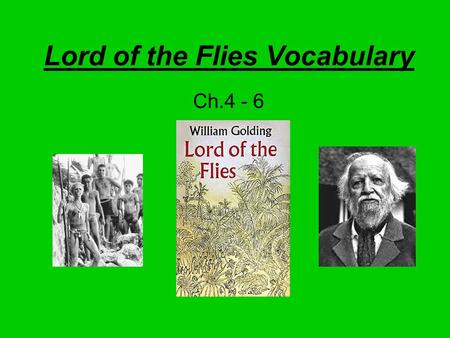 Lord of the Flies Vocabulary