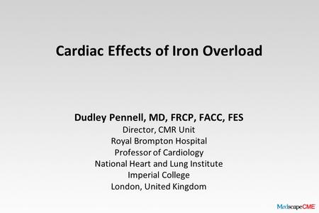 Cardiac Effects of Iron Overload